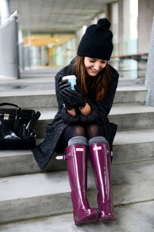 How To Rock The Hunter Rain Boots Just Trendy Girls