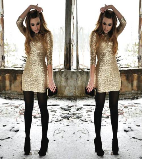 chic-sequin-golden-dress