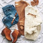 Flannel and sweaters cute preppy outfits