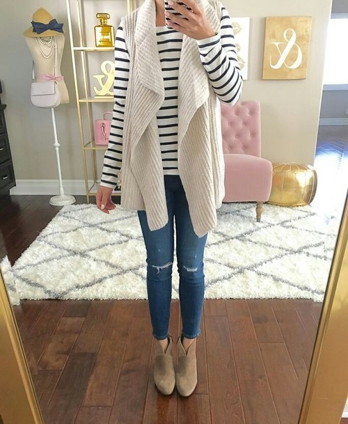 chunky-vest-with-striped-tee