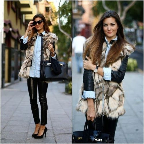 fur-vest-with-black-leather-jacket
