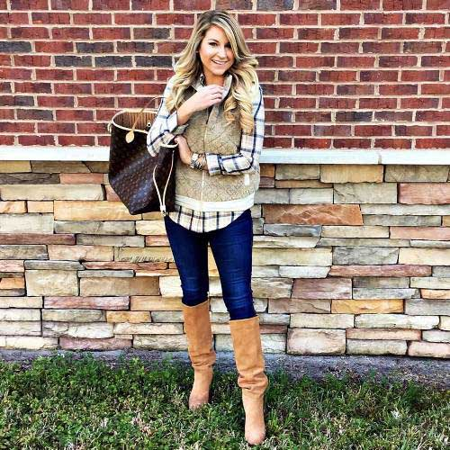 fur-vest-with-flannel-outfit
