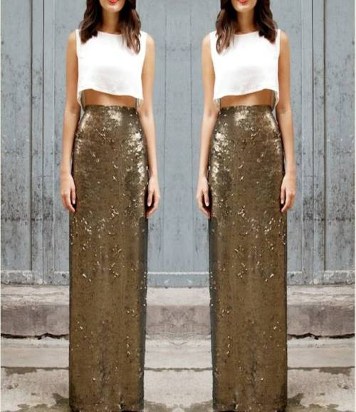 gold-maxi-pleated-skirt