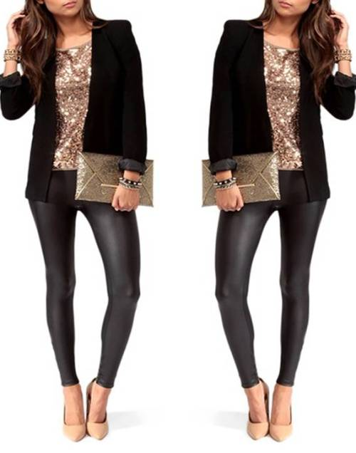 golden-sequin-to-with-black-blazer