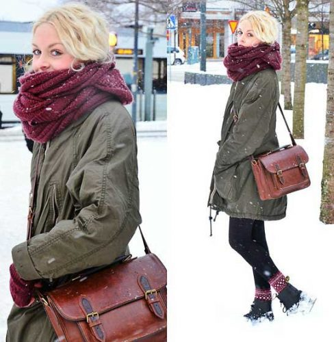 Sweden Winter Fashion: Puffy And Cargo Jacket Outfits