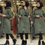 Cozy winter coats with hijab