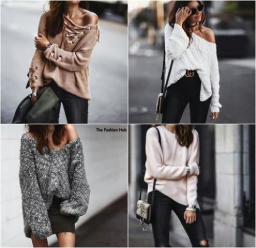 off-the-shoulder-lace-up-sweaters
