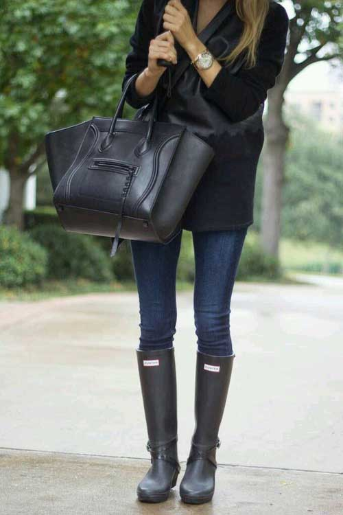 outfit-idea-in-hunter-boots