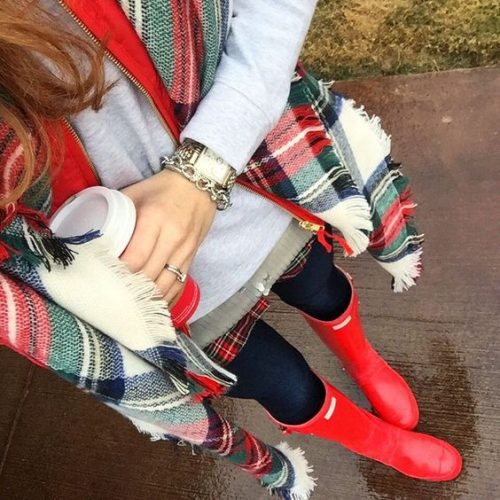 outfit-idea-with-hunter-boots