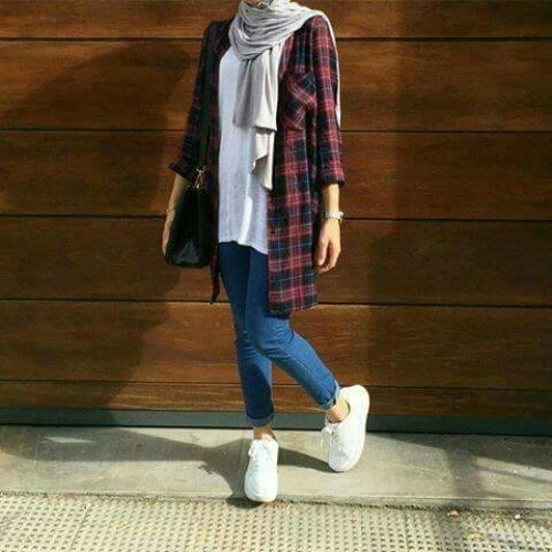 plaid-flannel-hijab-outfit