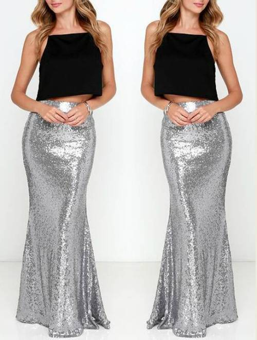 silver-sequin-maxi-skirt