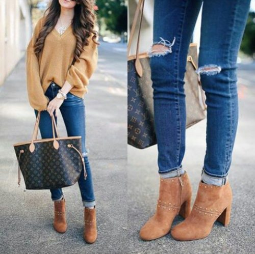 tan-sweater-with-jeans