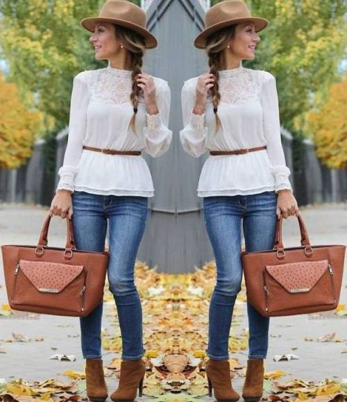 white-blouse-with-jeans-ankle-boots