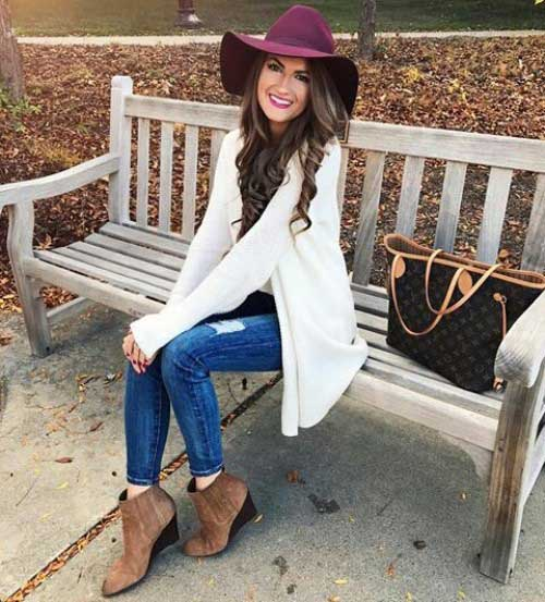 white-cardigan-with-hat-outfit