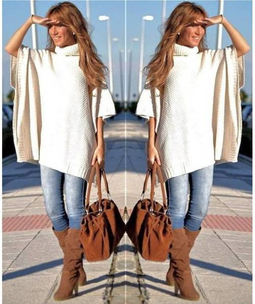 white-poncho-with-tan-long-boots