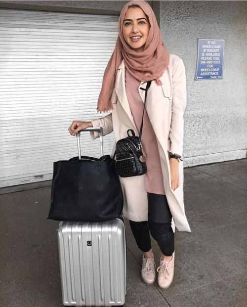 Hijabi traveling style u2013 Just Trendy Girls