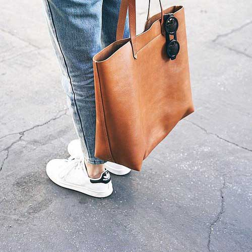 cognac-tote-bag-with-white-adidas-superstar