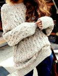 How to wear the oversized sweaters
