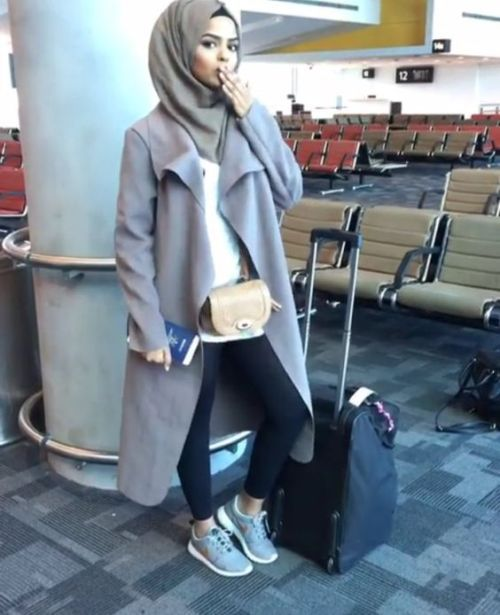 perfect hijab travel outfits