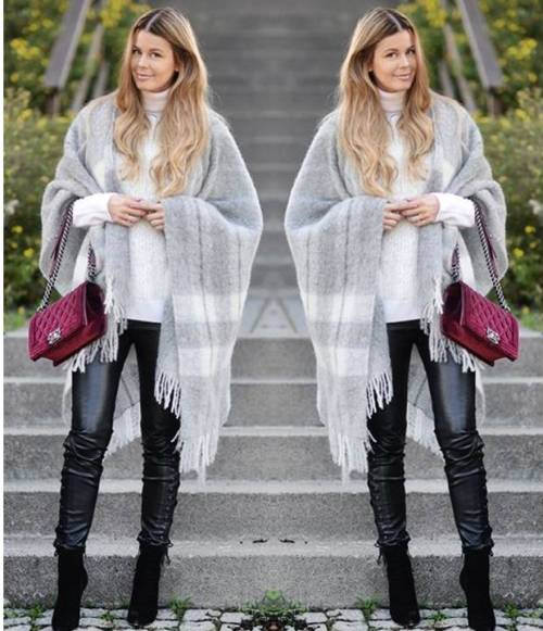 light-grey-poncho-outfit