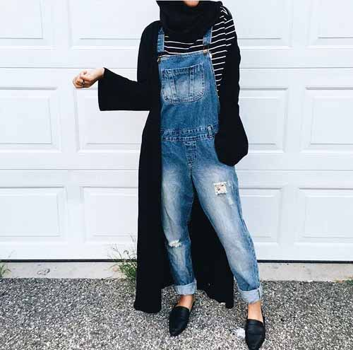 How To Wear Jumpsuits With Hijab Just Trendy Girls
