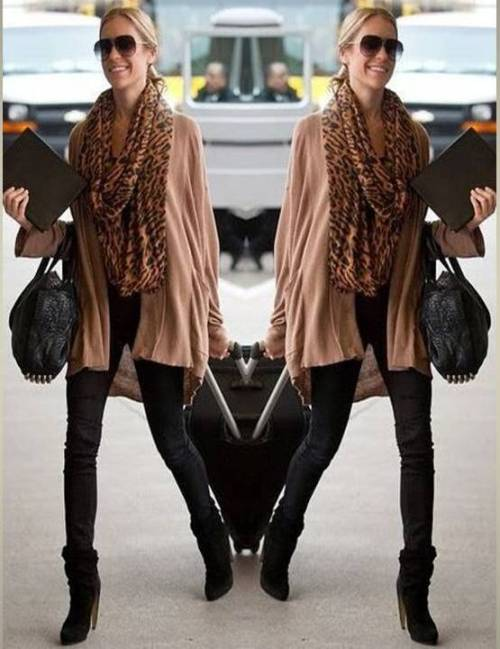 tan-cardigan-with-leopard-scarf