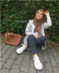 Hijab style with sneakers