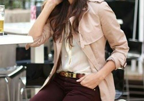 How to wear pink with burgundy