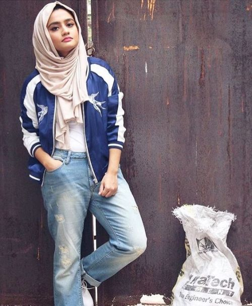 how to wear boyfriend jeans with hijab � just trendy girls