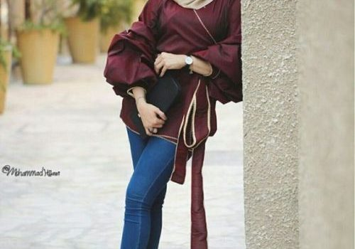 Ruffle blouses with hijab