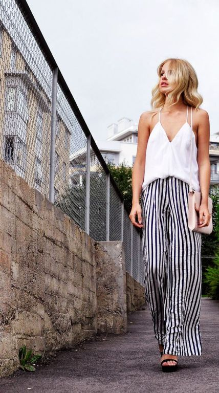 How To Wear The Striped Palazzo Pants U2013 Just Trendy Girls