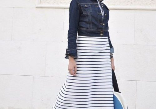 How to wear stripes with hijab