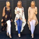 How to style the white jeans with hijab