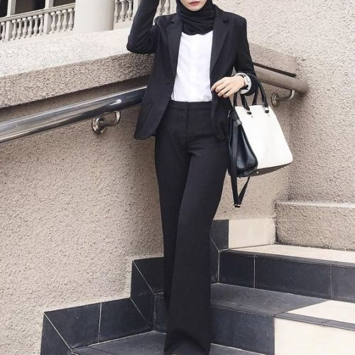 Formal And Classic Hijab Outfits Just Trendy Girls