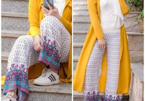 Colorful fashionable hijab outfits