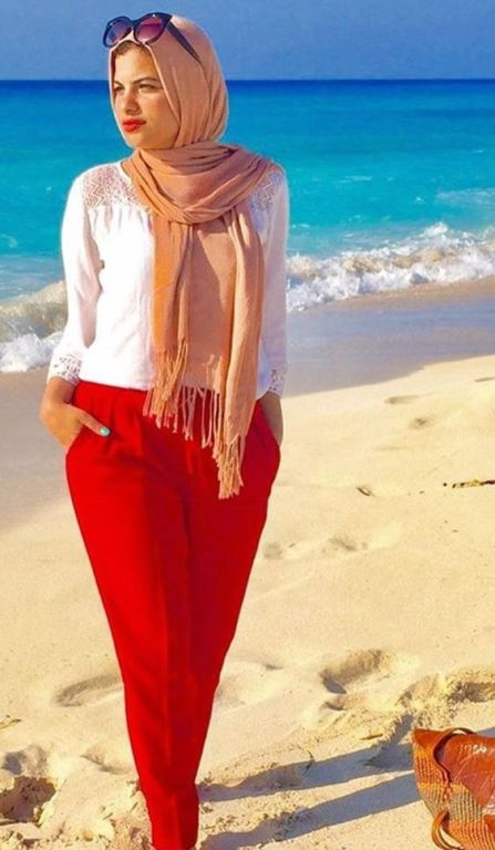 Hijab Outfits For The Beach Just Trendy Girls