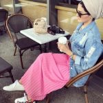 Candy colors hijab outfits
