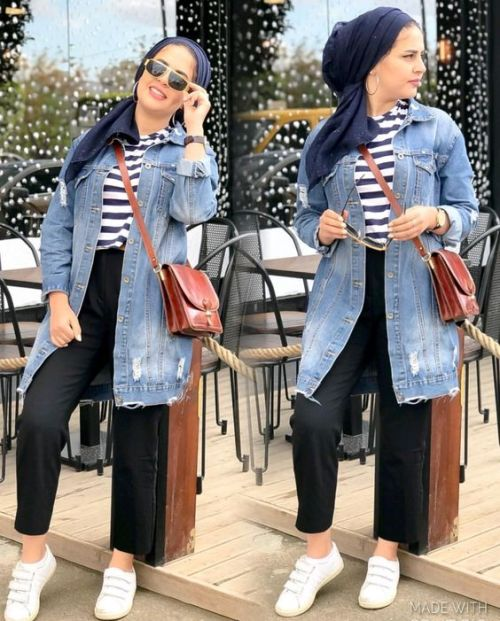 e6cdf330b1 Fall hijab in oversized outwears | | Just Trendy Girls