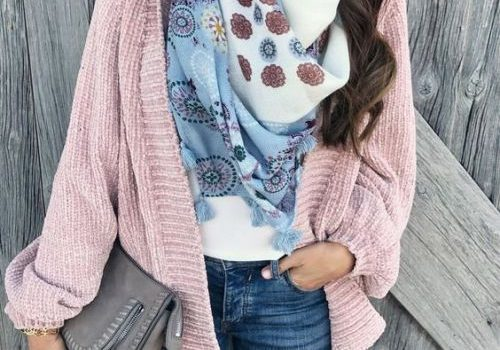Winter knitted cardigans