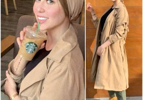 Trench coats with hijabi styling ideas