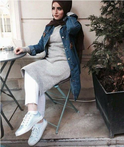 winter hijab outfits in prude and style looks � just