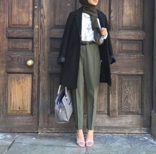 How To Style The Olive Green Outfits With Hijab Just Trendy Girls,House Renovation Before And After Uk