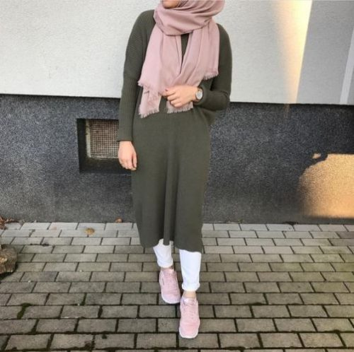 How To Style The Olive Green Outfits With Hijab Just Trendy Girls