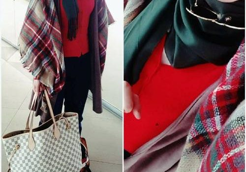 How to wear poncho with hijab