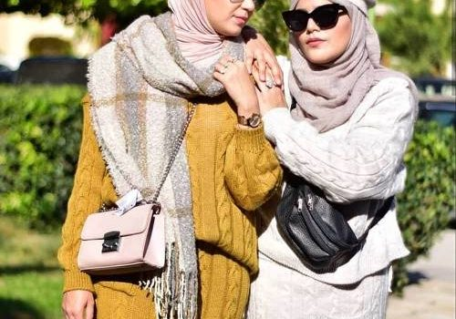 Hijab fashion style in winter