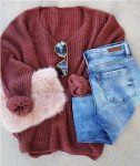 Cozy knitted winter outfits