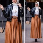 Pleated maxi skirts for woman