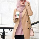 Hijab fashion clothing in camel shades