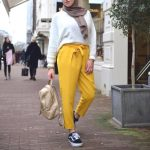 Dressy pants with hijab