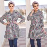 How to wear striped chemises with hijab